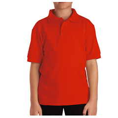 DKIKS4552-OR-XL - DickiesKids Short Sleeve Pique Polo Shirts