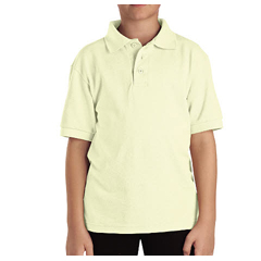 DKIKS4552-YL-S - DickiesKids Short Sleeve Pique Polo Shirts