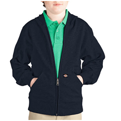 DKIKW604-DN-L - DickiesBoys Lightweight Fleece Hoodies