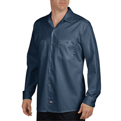 DKILL307-NV-L-RG - DickiesMens Long Sleeve Industrial Shirt
