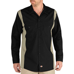 DKILL524-BKDS-3X - DickiesMens Long Sleeve Two-Tone Industrial Shirt