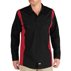 DKILL524-BKER-MT - DickiesMens Long Sleeve Two-Tone Industrial Shirt