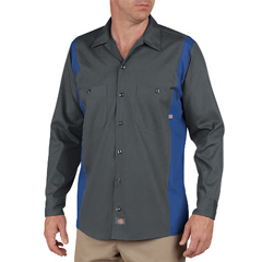 DKILL524-CHRB-M - DickiesMens Long Sleeve Two-Tone Industrial Shirt