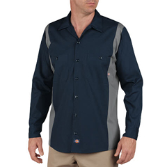 DKILL524-DNSM-M - DickiesMens Long Sleeve Two-Tone Industrial Shirt