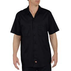 DKILS307-BK-XL-RG - DickiesMens Short Sleeve Industrial Cotton Work Shirt