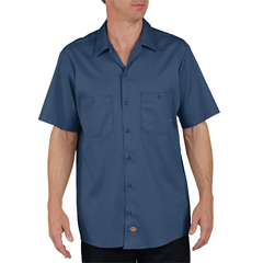 DKILS307-NV-3X-RG - DickiesMens Short Sleeve Industrial Cotton Work Shirt