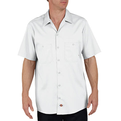 DKILS307-WH-L-RG - DickiesMens Short Sleeve Industrial Cotton Work Shirt