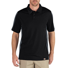 DKILS424-BKCH-S - DickiesMens Industrial Short Sleeve Color Block Polo Shirts