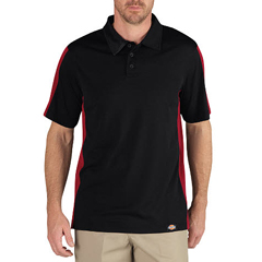 DKILS424-BKER-L - DickiesMens Industrial Short Sleeve Color Block Polo Shirts
