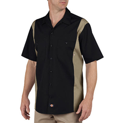 DKILS524-BKDS-2T - DickiesMens Short Sleeve Two-Tone Industrial Shirt