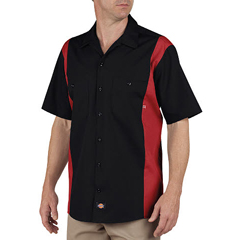 DKILS524-BKER-L - DickiesMens Short Sleeve Two-Tone Industrial Shirt