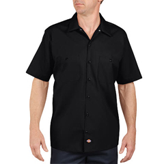 DKILS535-BK-M - DickiesMens Short Sleeve Industrial Work Shirt