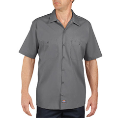 DKILS535-GG-M - DickiesMens Short Sleeve Industrial Work Shirt