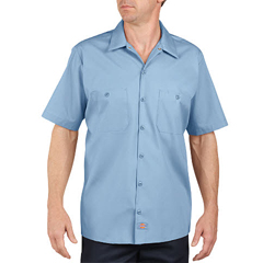 DKILS535-LB-S - DickiesMens Short Sleeve Industrial Work Shirt