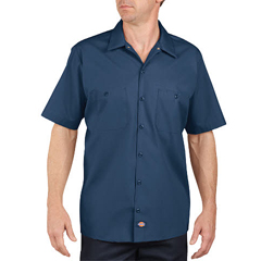DKILS535-NV-5X - DickiesMens Short Sleeve Industrial Work Shirt