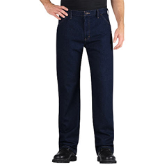 DKILU522-RNB-34-34 - DickiesMens Relaxed-Fit Carpenters Jeans