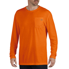 DKISL500-NA-M - DickiesMens Long Sleeve Dri Release Tee Shirts