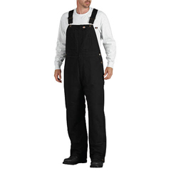DKITB245-BK-M-RG - DickiesMens Sanded Duck Insulated Bib Overalls