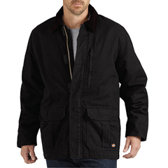 DKITC280-RBK-2X - DickiesMens Ribbed Sanded Duck Coats