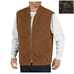 DKITE240-CNC-L - DickiesMens Sanded Duck Lined Vests