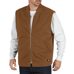 DKITE240-RBD-L - DickiesMens Sanded Duck Lined Vests
