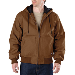 DKITJ245-BD-XL - DickiesMens Sanded Duck Hooded Jackets
