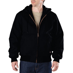 DKITJ245-BK-XL - DickiesMens Sanded Duck Hooded Jackets
