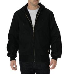 DKITJ250-RBK-L-RG - DickiesMens Sanded Duck Thermal Lined Hooded Jackets