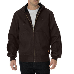 DKITJ250-RCB-XL-RG - DickiesMens Sanded Duck Thermal Lined Hooded Jackets