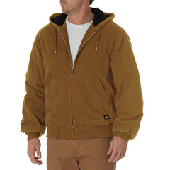DKITJ270-RBD-2T - DickiesMens Sanded Duck Insulated Hooded Jackets