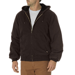 DKITJ270-RCB-XL - DickiesMens Sanded Duck Insulated Hooded Jackets