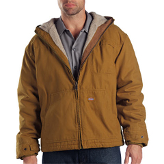DKITJ350-RBD-XL-RG - DickiesMens Sanded Duck Sherpa Lined Hooded Jacket