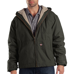 DKITJ350-RBV-XL-RG - DickiesMens Sanded Duck Sherpa Lined Hooded Jacket