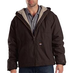 DKITJ350-RCB-4X-RG - DickiesMens Sanded Duck Sherpa Lined Hooded Jacket