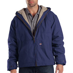 DKITJ350-REL-L-TL - DickiesMens Sanded Duck Sherpa Lined Hooded Jacket