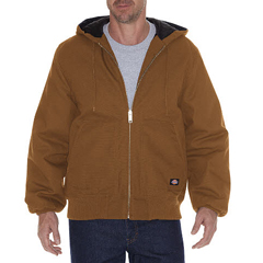 DKITJ718-BD-M - DickiesMens Hooded Duck Jackets