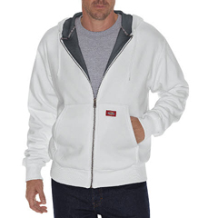 DKITW382-AG-S - DickiesMens Lined Front Zip Fleece Hoodie