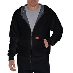 DKITW382-BK-M - DickiesMens Lined Front Zip Fleece Hoodie
