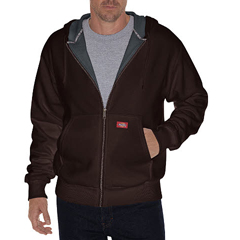 DKITW382-DB-XL - DickiesMens Lined Front Zip Fleece Hoodie