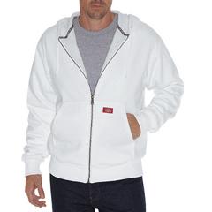 DKITW382-WH-XL - DickiesMens Lined Front Zip Fleece Hoodie