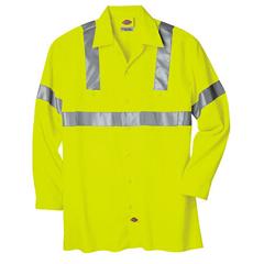 DKIVL100-AY-4X - DickiesMens Long Sleeve Hi-Visibility Work Shirts