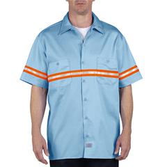 DKIVS101-LB-M - DickiesMens Enhanced Visibility Work Shirts