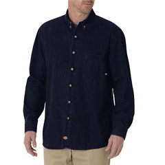 DKIWL300-RNB-XL - DickiesMens Denim Long Sleeve Shirts