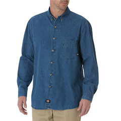 DKIWL300-SNB-L - DickiesMens Denim Long Sleeve Shirts