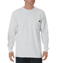 DKIWL450-AG-2T - DickiesMens Long Sleeve Heavyweight Crew Neck Tee Shirts