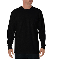 DKIWL450-BK-M - DickiesMens Long Sleeve Heavyweight Crew Neck Tee Shirts