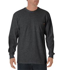 DKIWL450-CH-2T - DickiesMens Long Sleeve Heavyweight Crew Neck Tee Shirts