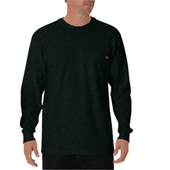 DKIWL450-GH-M - DickiesMens Long Sleeve Heavyweight Crew Neck Tee Shirts