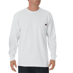 DKIWL450-WH-XL - DickiesMens Long Sleeve Heavyweight Crew Neck Tee Shirts