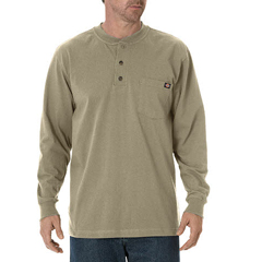 DKIWL451-DS-2X - DickiesMens Long Sleeve Heavyweight Henley Tee